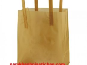 Square bottom tri fold plastic bag