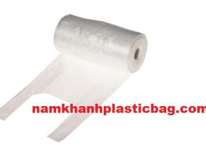 HDPE clear virgin safe for food t shirt bag on roll