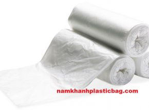 Clear plastic flat bag on roll core or no core