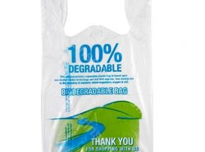 Bio degradable sack shopping t shirt bag