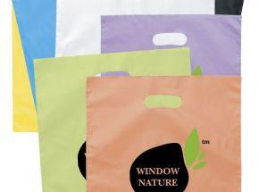 HDPE nice printing die cut plastic bag