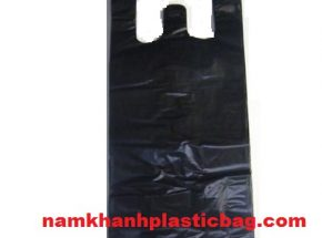 HDPE black trash bag