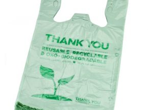 EPI or D2W biodegradable shopping  singlet bag