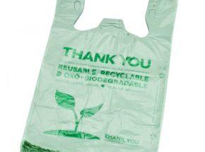 EPI or D2W biodegradable shopping  singlet bag