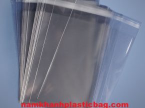 LDPE/PP clear self seal glue strip plastic bag
