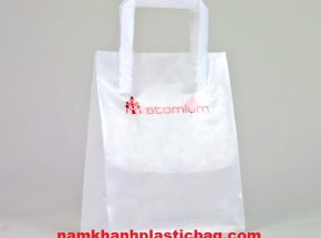 HDPE tri fold handle plastic bag