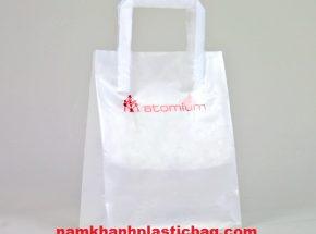 HDPE tri fold handle plastic bag