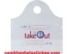 LDPE  túi nhựa quai lượn sóng